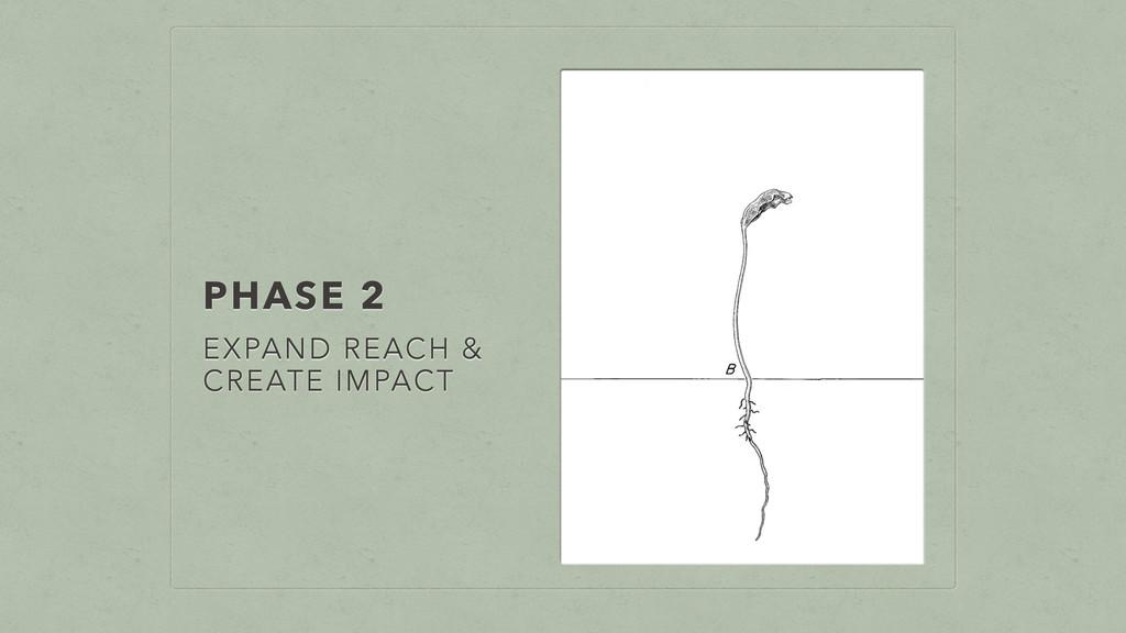PHASE 2 EXPAND REACH & CREATE IMPACT