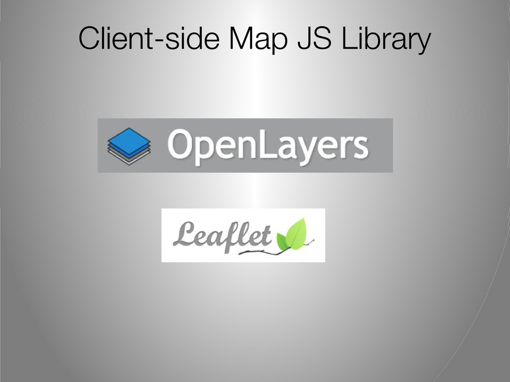 Client-side Map JS Library