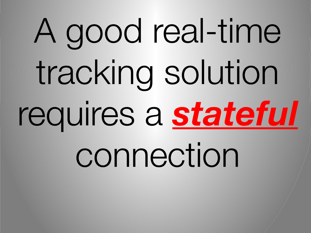 A good real-time tracking solution requires a s...