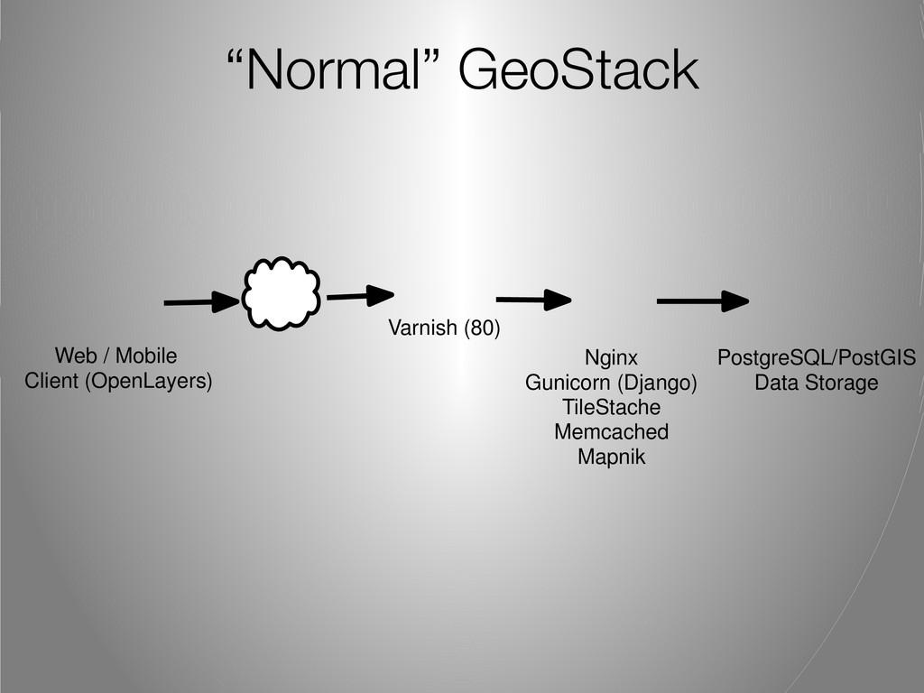 """Normal"" GeoStack Nginx Gunicorn (Django) TileS..."