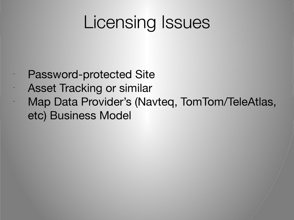 Licensing Issues - Password-protected Site - As...