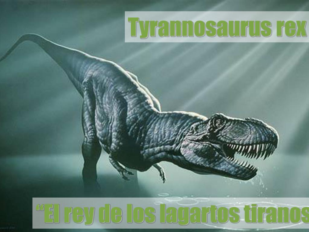"""Tyrannosaurus rex """"El rey de los lagartos tiran..."""