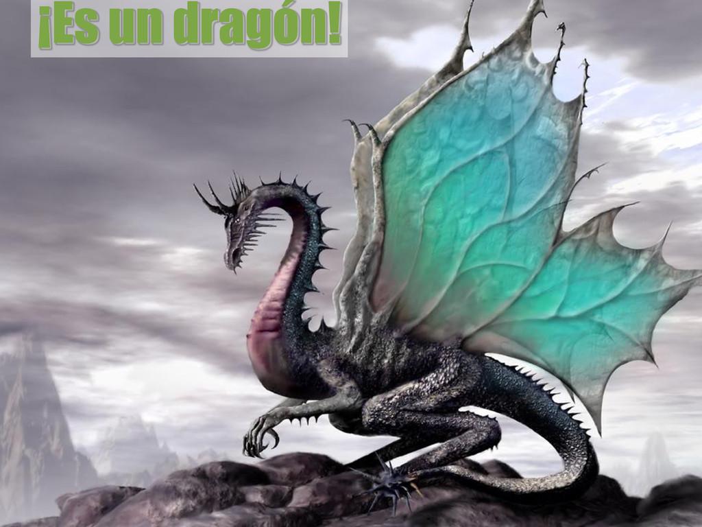 ¡Es un dragón!