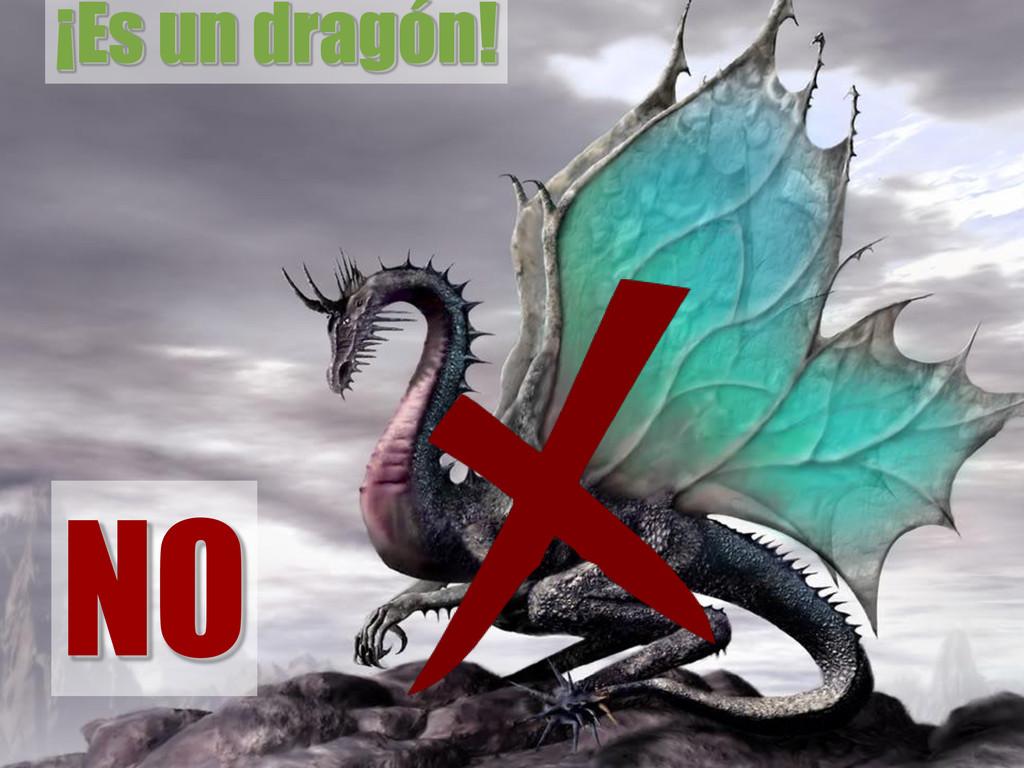 ¡Es un dragón! NO