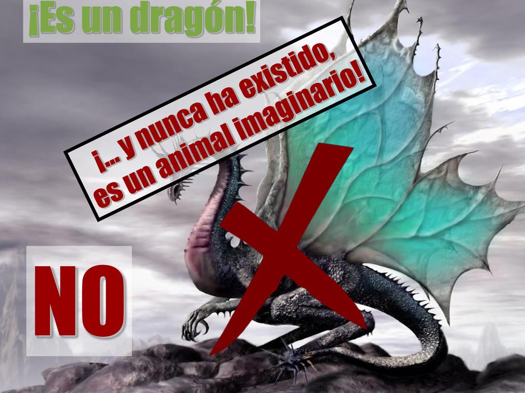 NO ¡Es un dragón!