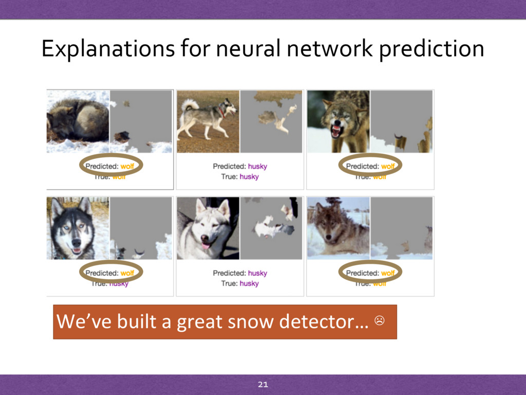 Explanations for neural network prediction We'v...