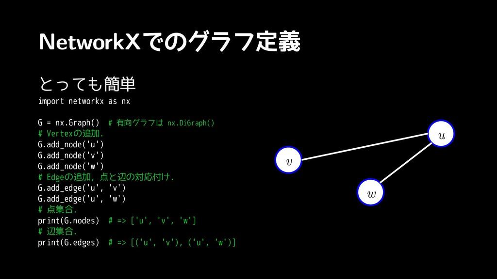NetworkXで来ちゃいましたの関係(?)グラフ定義 と年末に有明で戦っても簡単 impor...