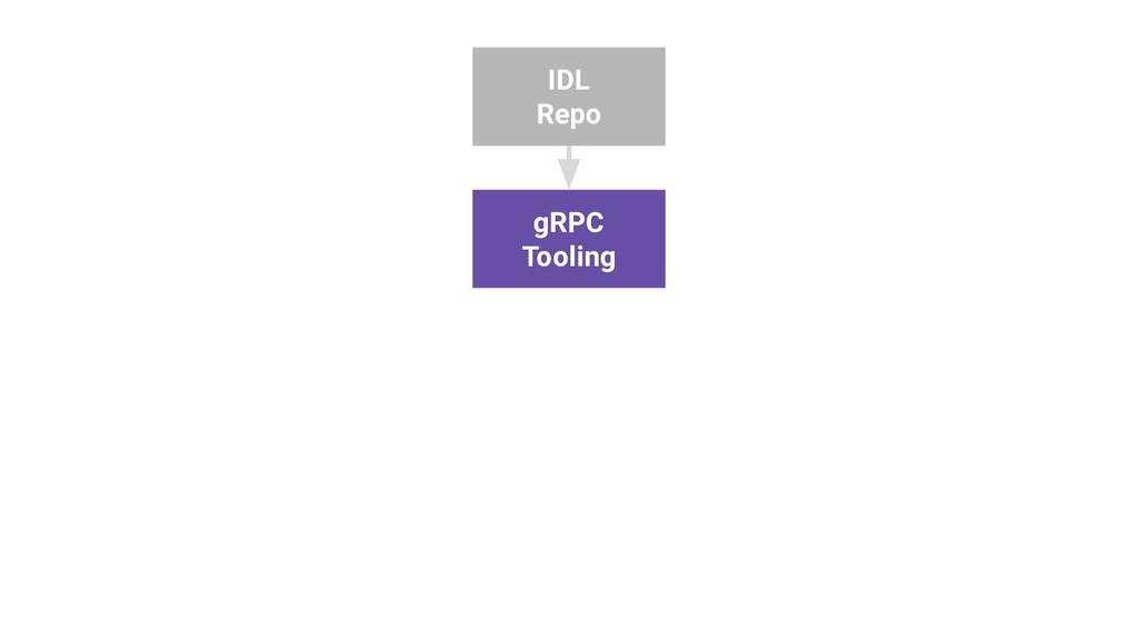 IDL Repo gRPC Tooling