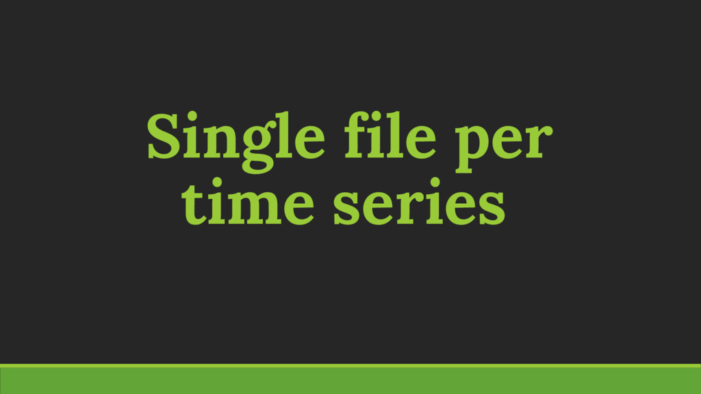Single file per time series