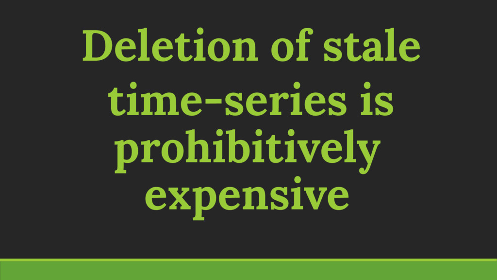 Deletion of stale time-series is prohibitively ...