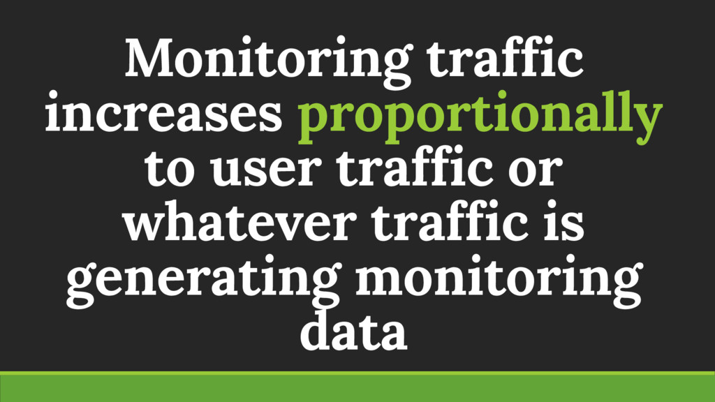 Monitoring traffic increases proportionally to ...