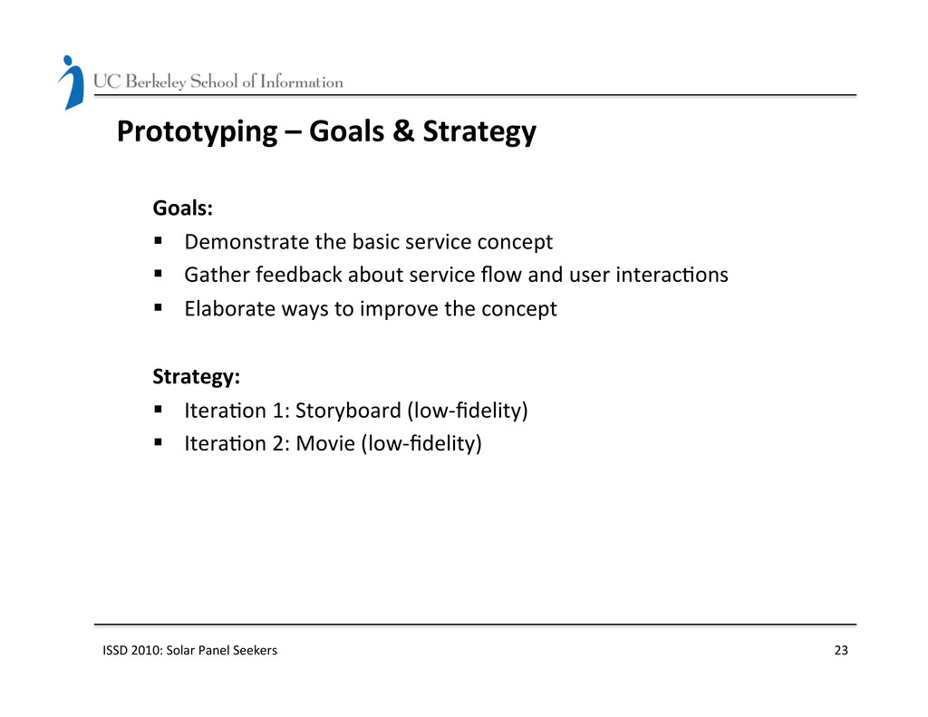 Prototyping – Goals & Strategy ...