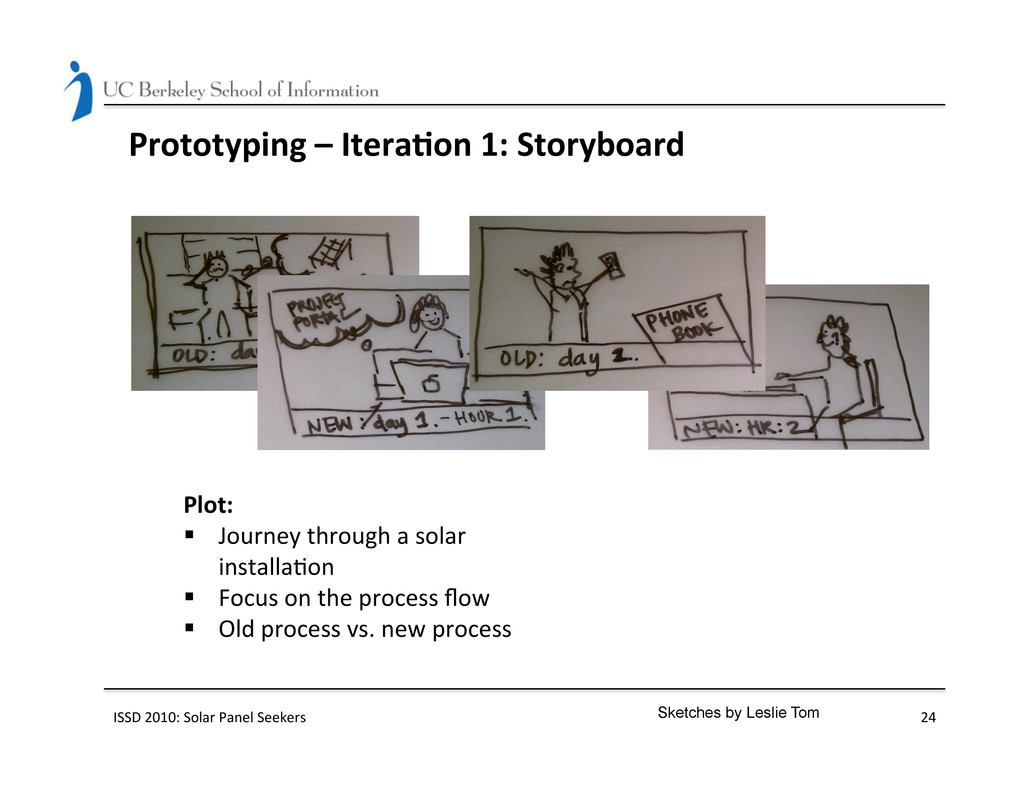 Prototyping – Itera(on 1: Storyboar...