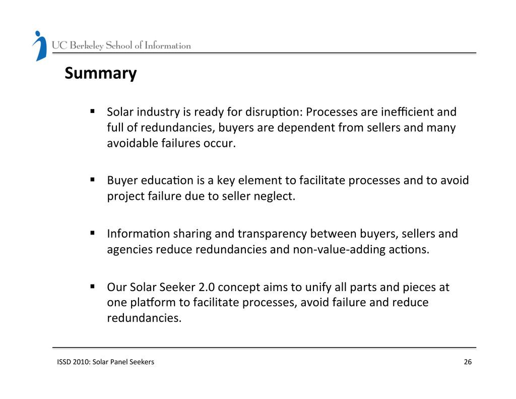 Summary  § Solar industry is read...