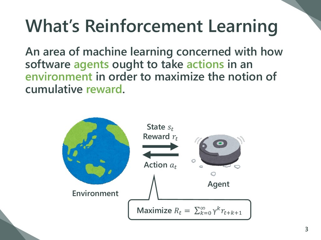 What's Reinforcement Learning An area of machin...