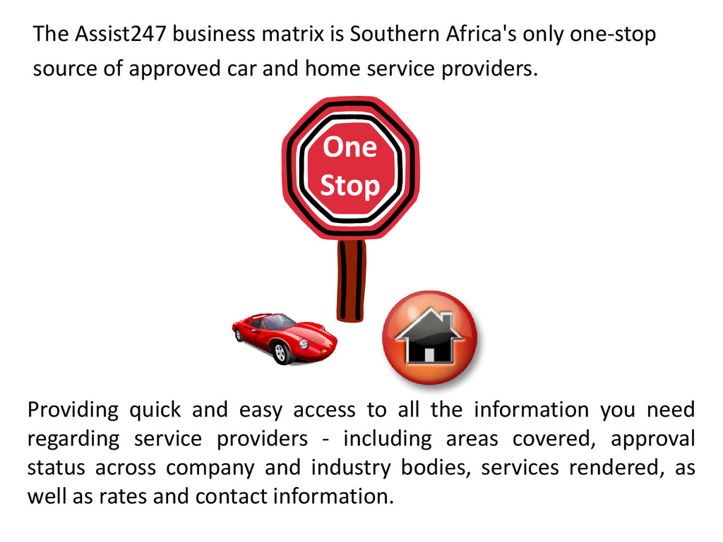The Assist247 business matrix is Southern Afric...