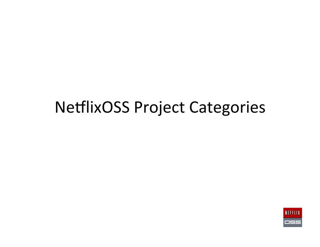 NeClixOSS Project Categories