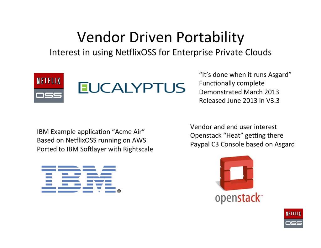 Vendor Driven Portability  Interest ...