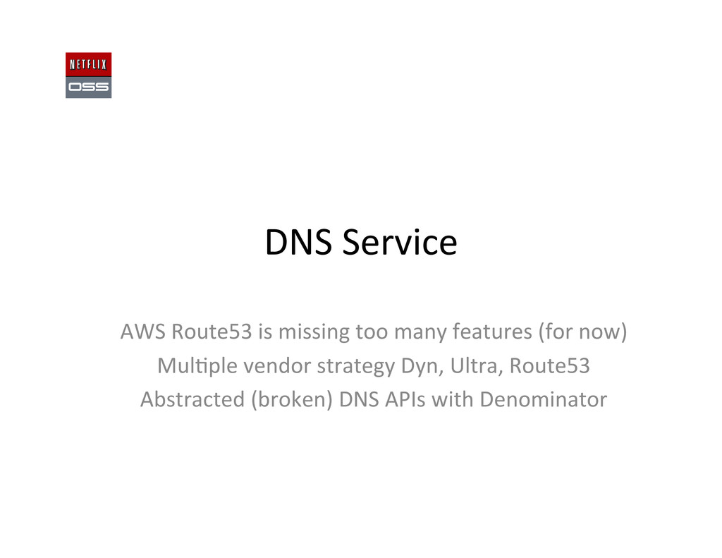 DNS Service  AWS Route53 is miss...