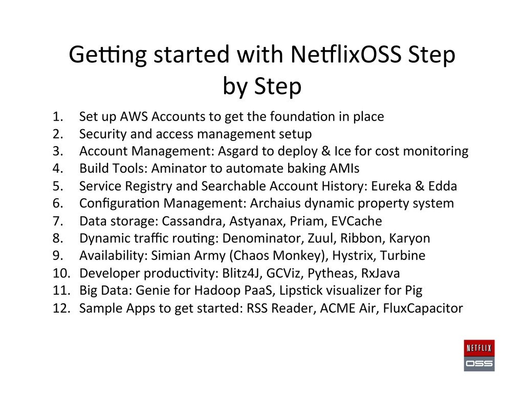 Gewng started with NeClixOSS Step...