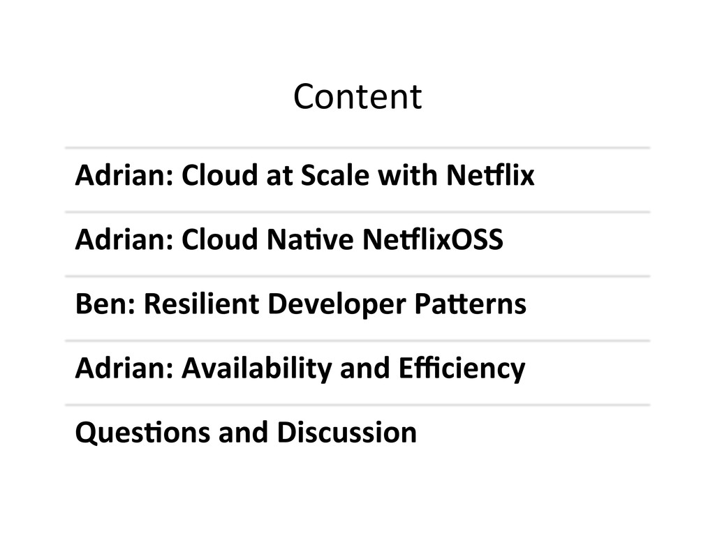 Content  Adrian: Cloud at Scale ...