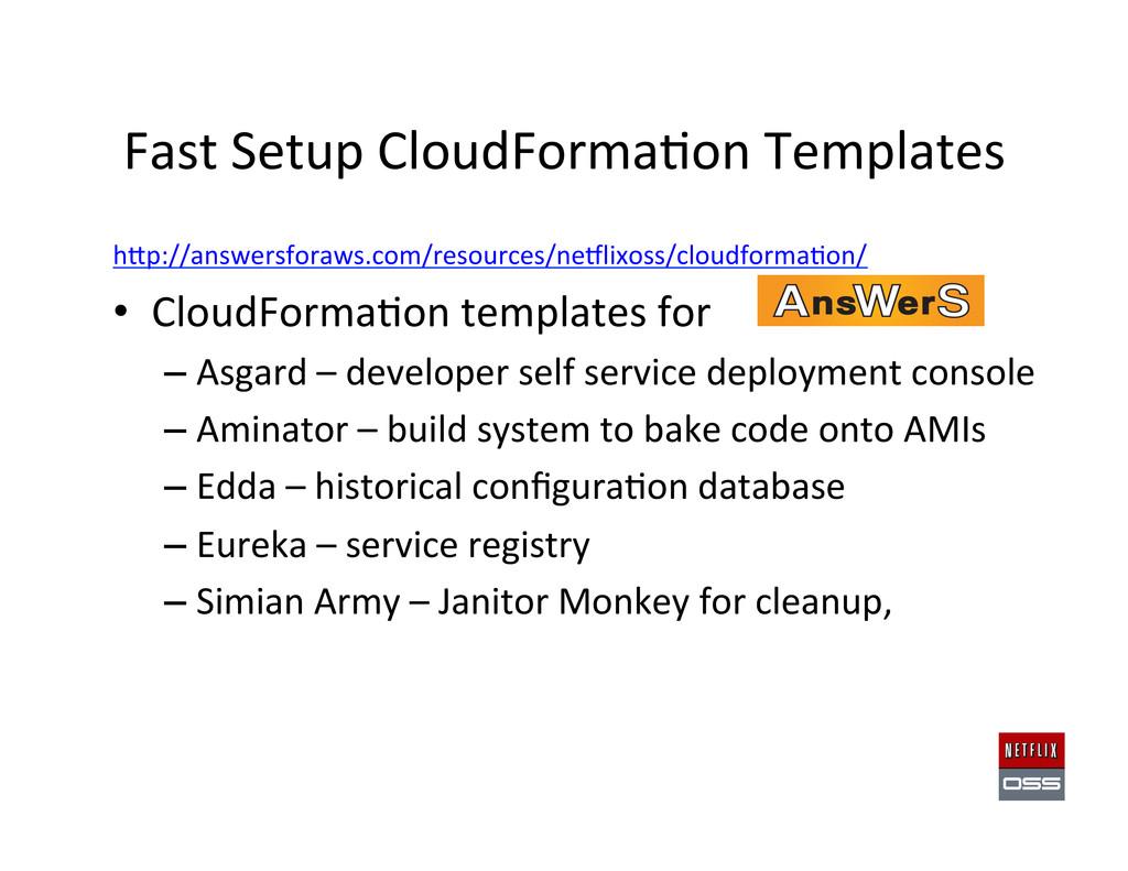 Fast Setup CloudForma,on Templates ...