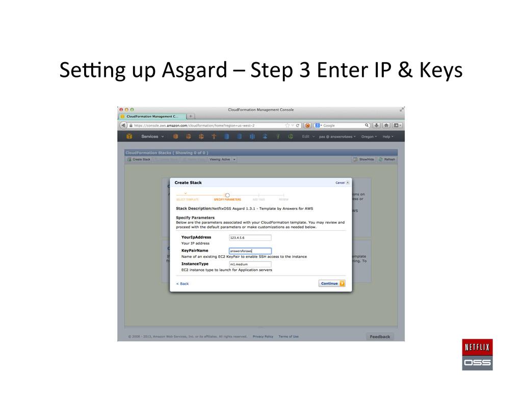 Sewng up Asgard – Step 3 Ente...