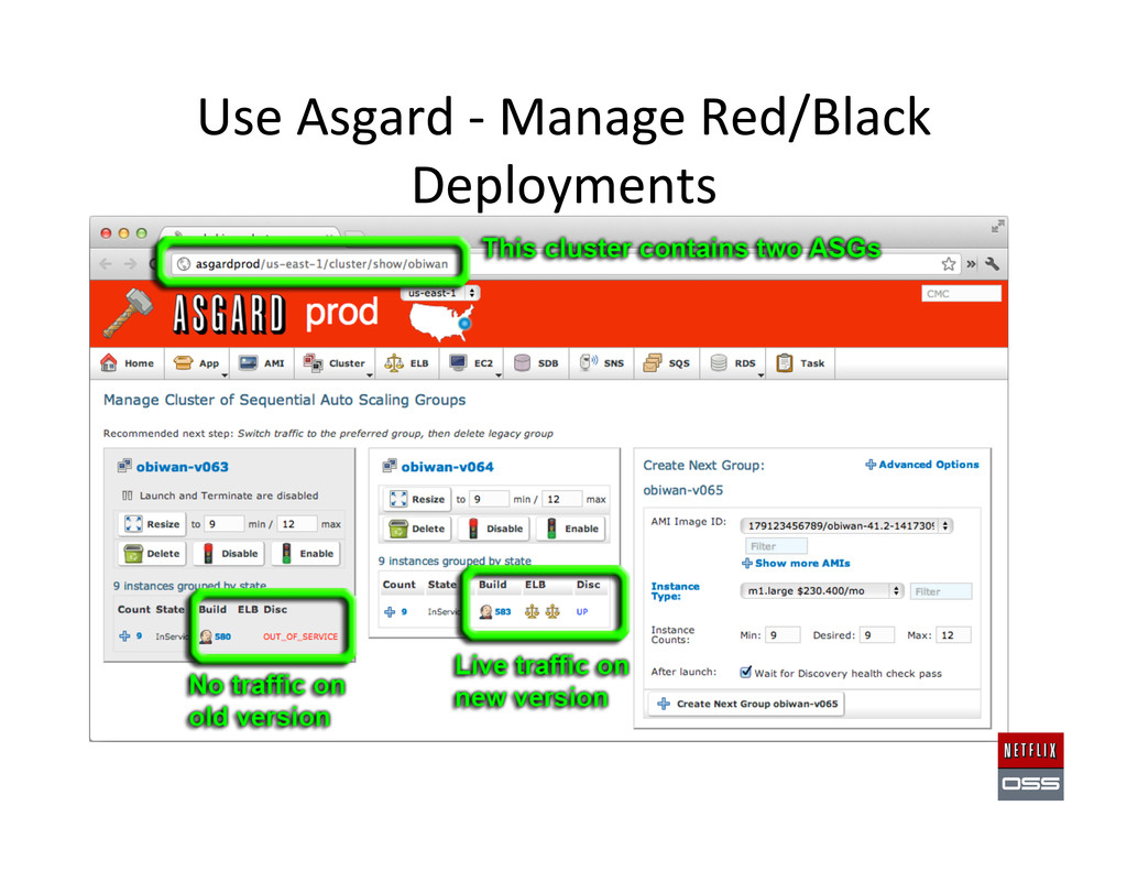 Use Asgard -‐ Manage Red/Black ...