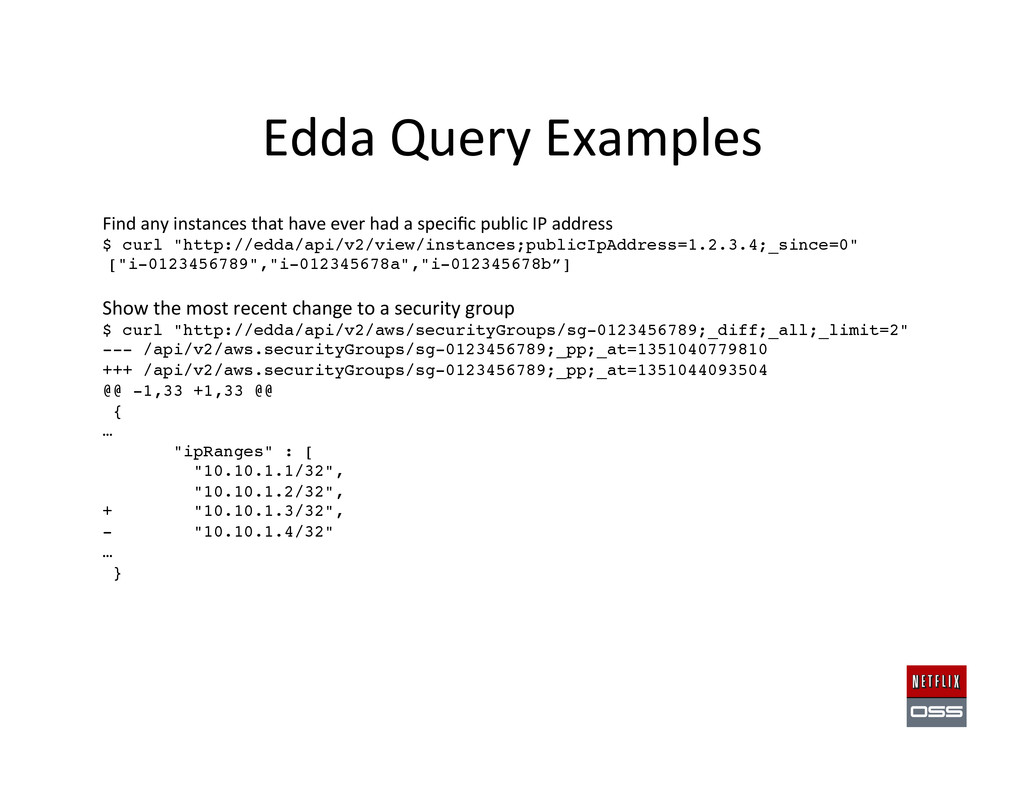 Edda Query Examples  Find any in...