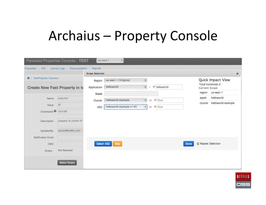 Archaius – Property Console