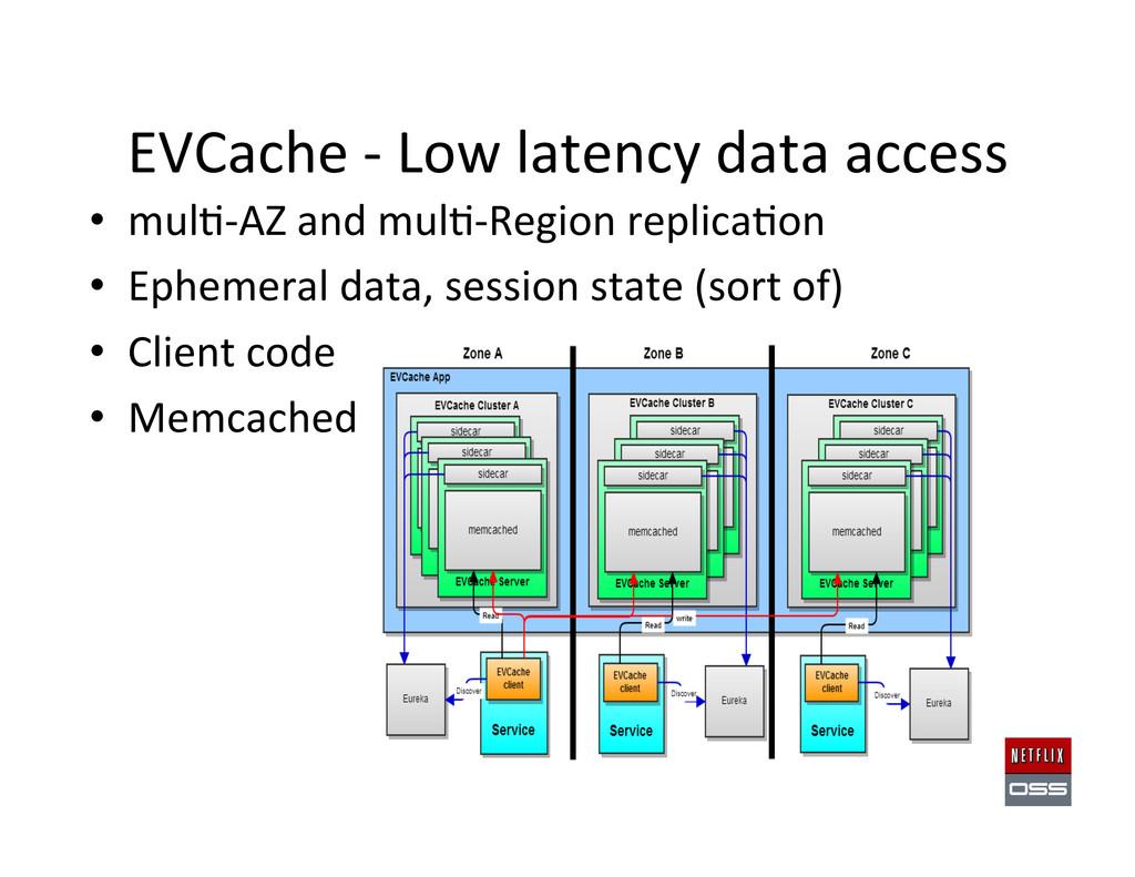 EVCache -‐ Low latency data acc...