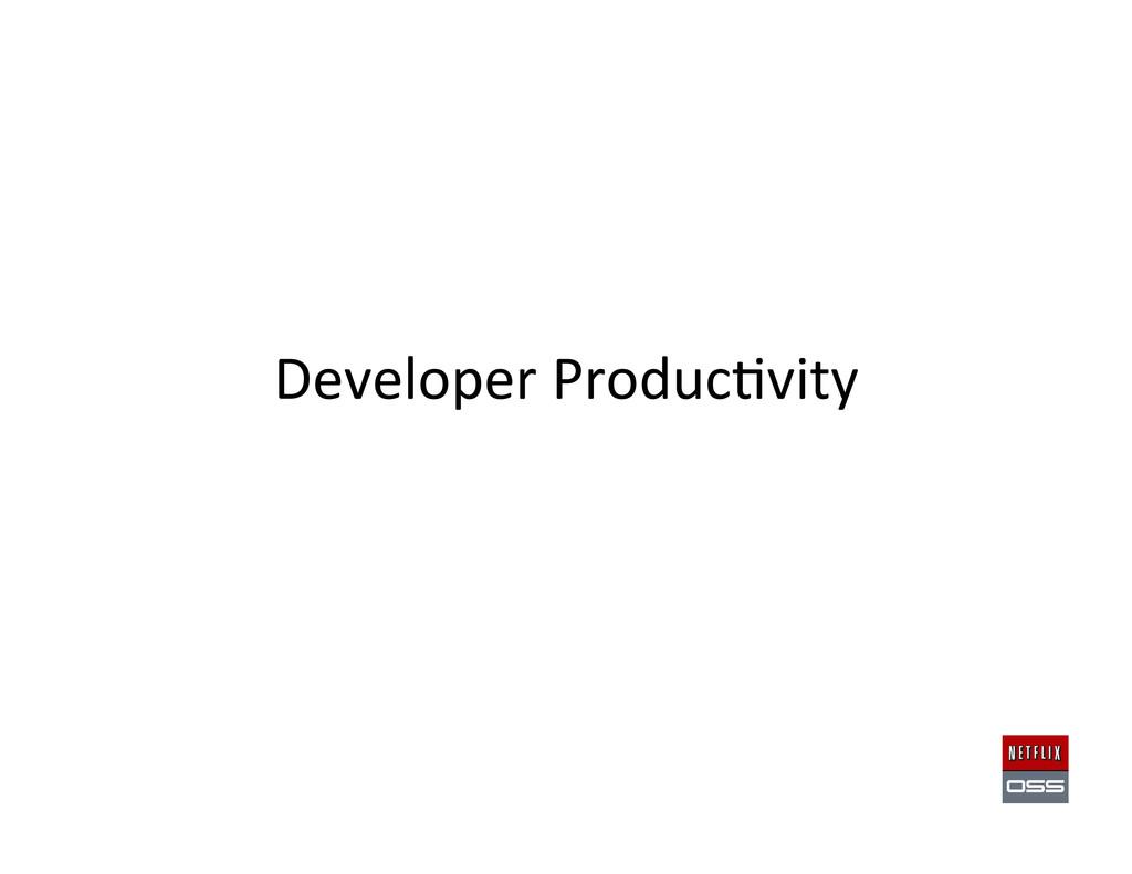 Developer Produc,vity
