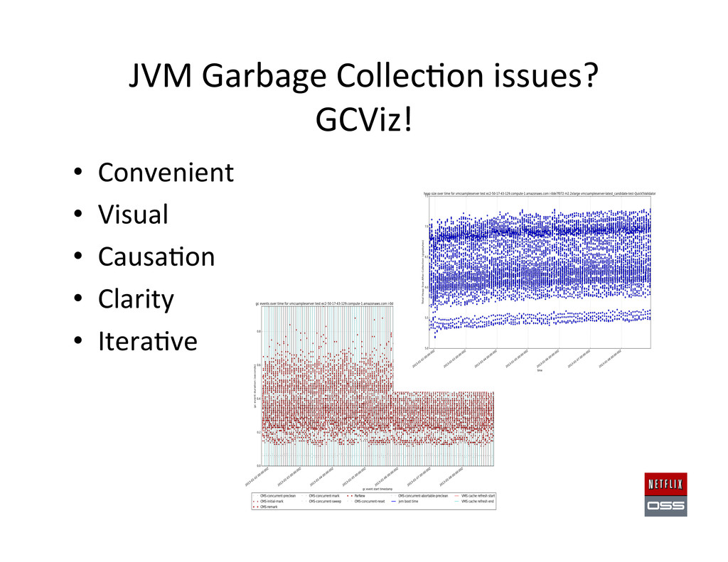 JVM Garbage Collec,on issues?   ...