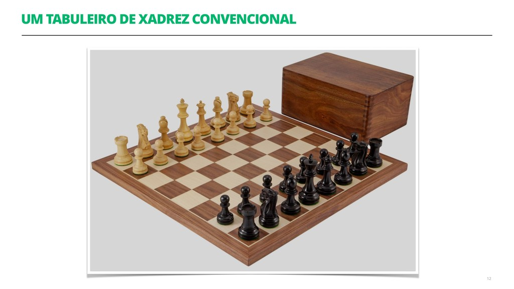 UM TABULEIRO DE XADREZ CONVENCIONAL 12