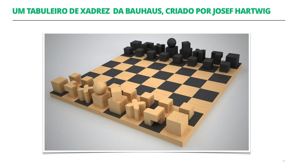UM TABULEIRO DE XADREZ DA BAUHAUS, CRIADO POR J...