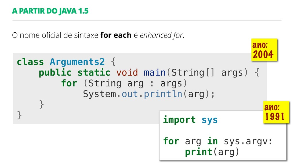 class Arguments2 { public static void main(Stri...