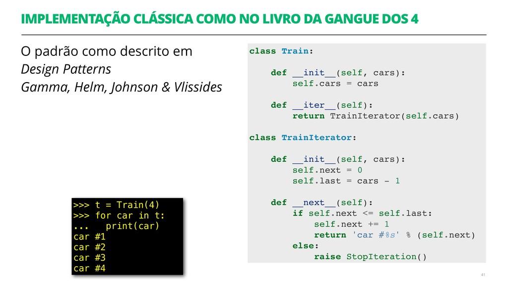 IMPLEMENTAÇÃO CLÁSSICA COMO NO LIVRO DA GANGUE ...