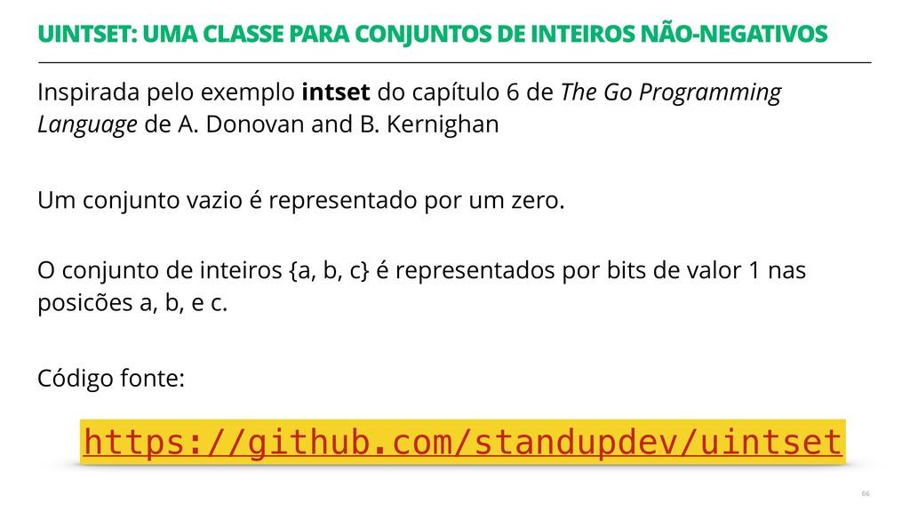 UINTSET: UMA CLASSE PARA CONJUNTOS DE INTEIROS ...