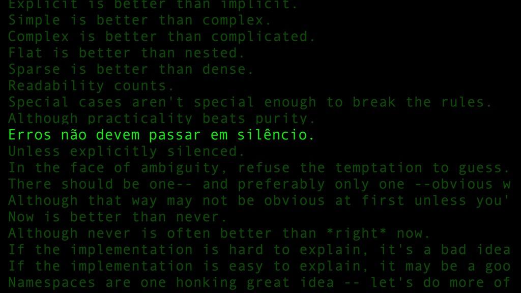 80 Erros não devem passar em silêncio.