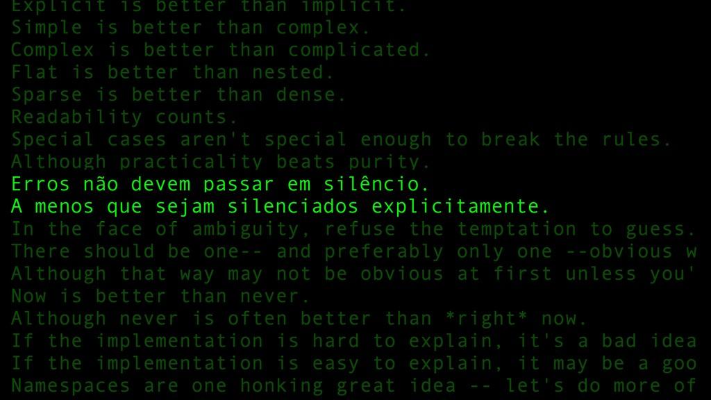 84 Erros não devem passar em silêncio. A menos ...
