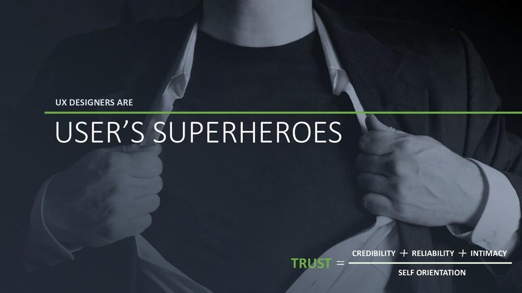 UX DESIGNERS ARE USER'S SUPERHEROES TRUST CREDI...