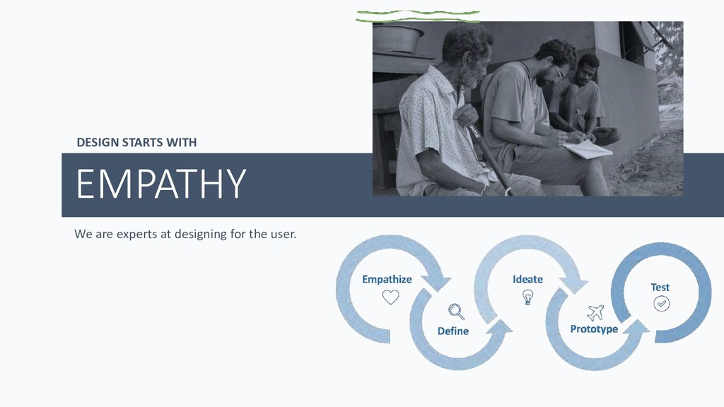 DESIGN STARTS WITH EMPATHY We are experts at de...