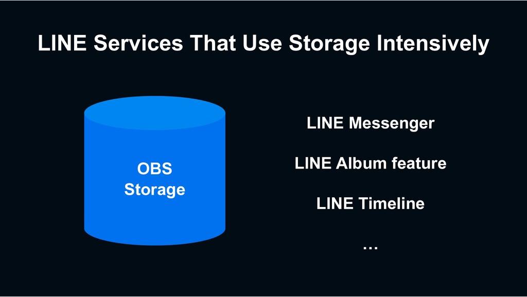 OBS Storage LINE Services That Use Storage Inte...