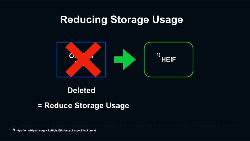 Deleted = Reduce Storage Usage Reducing Storage...