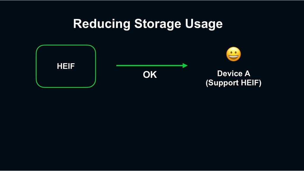 ! Device A (Support HEIF) OK Reducing Storage U...