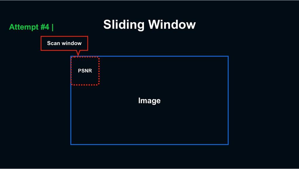 Scan window Image Sliding Window Attempt #4 | P...