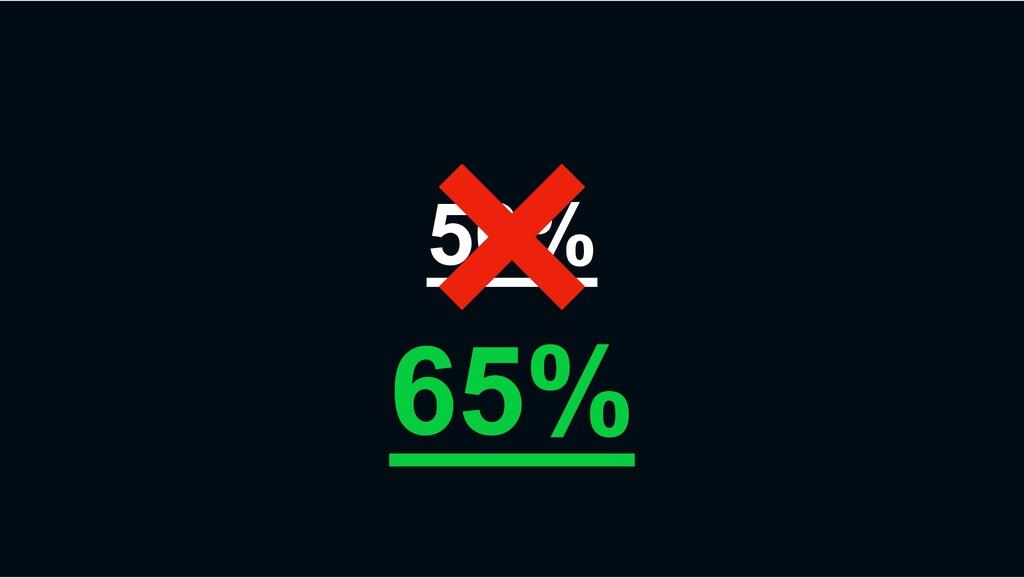 50% 65%