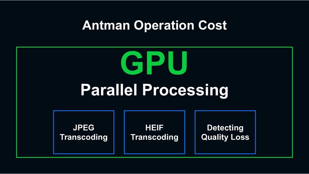 GPU Parallel Processing JPEG Transcoding HEIF T...