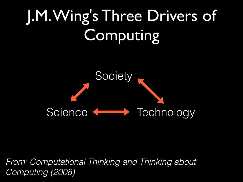 J.M. Wing's Three Drivers of Computing Society ...