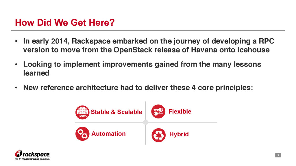 3 How Did We Get Here? Hybrid Stable & Scalable...